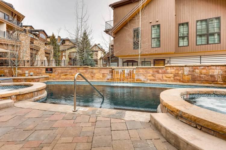 Outdoor pool in Vail Colorado