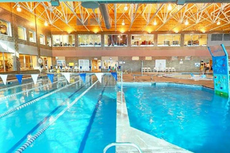 Swimming pool at the Avon Rec center