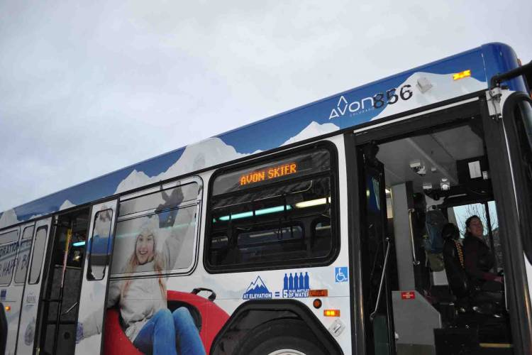 Bus in Avon, Colorado