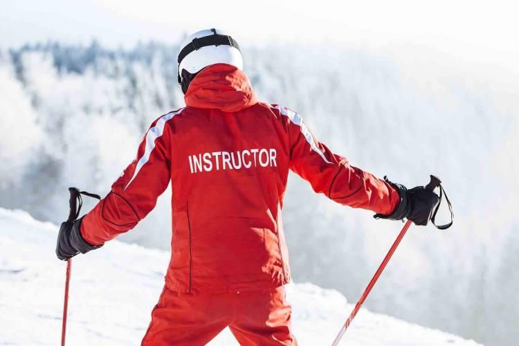 Ski instructor on the mountain